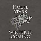 House Stark iPhone Case by Alexandra Grant