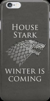House Stark iPhone Case by Alexandra Grant