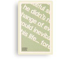 Type Term Poster - Baseline Canvas Print