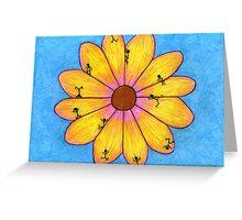 Flower Games Greeting Card