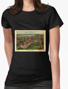 Panoramic Maps Bird's eye view of Boston T-Shirt