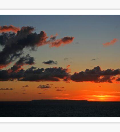Lundy Sunset Sticker