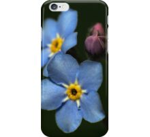 Forget-Me-Nots 3 iPhone Case/Skin