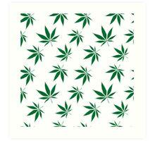 weed pattern large leaf Art Print
