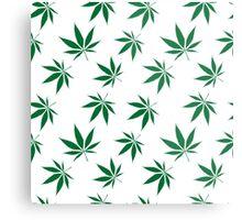 weed pattern large leaf Metal Print