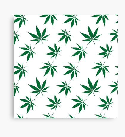 weed pattern large leaf Canvas Print