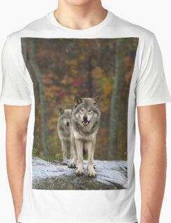 Double Trouble - Timber Wolves Graphic T-Shirt