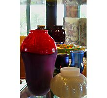 Vases on the Shelf Photographic Print