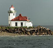 Alki Point Lighthouse by Jim Stiles