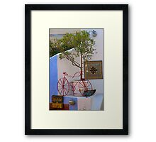 Red Bicycle Restaurant Framed Print