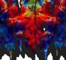 FBZ Red & Blue Tie dye Text Sticker