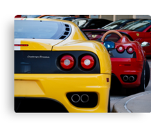 Ferrari Pair Canvas Print