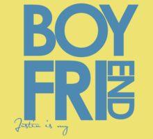 Justin Is My Boyfriend (Blue) Kids Tee