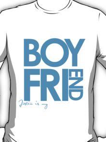 Justin Is My Boyfriend (Blue) T-Shirt