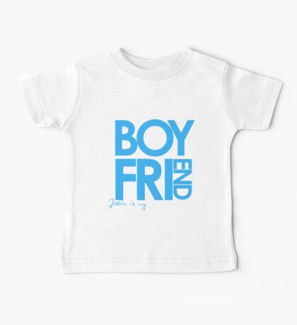 Justin Is My Boyfriend (Blue) Baby Tee