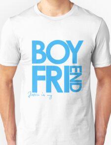 Justin Is My Boyfriend (Blue) Unisex T-Shirt