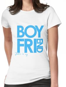 Justin Is My Boyfriend (Blue) Womens Fitted T-Shirt