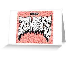 FBZ White on Brain  Greeting Card