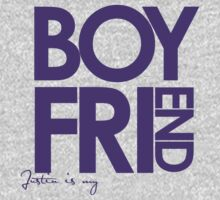 Justin Is My Boyfriend (Purple) Kids Clothes