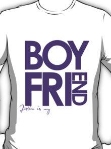 Justin Is My Boyfriend (Purple) T-Shirt