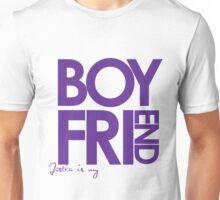 Justin Is My Boyfriend (Purple) Unisex T-Shirt