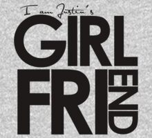 I Am Justin's Girlfriend (Black) Kids Clothes