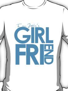 I Am Justin's Girlfriend (Blue) T-Shirt
