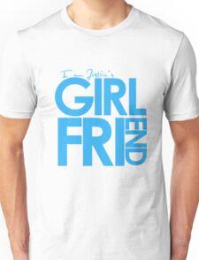 I Am Justin's Girlfriend (Blue) Unisex T-Shirt