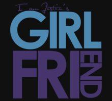 I Am Justin's Girlfriend (Blue & Purple) Kids Clothes