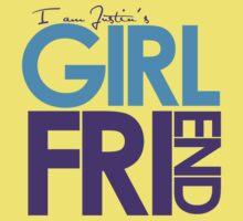 I Am Justin's Girlfriend (Blue & Purple) Kids Tee