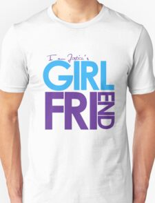 I Am Justin's Girlfriend (Blue & Purple) Unisex T-Shirt