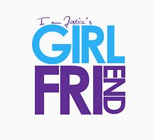 I Am Justin's Girlfriend (Blue & Purple) Unisex T-Shirt