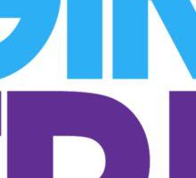 I Am Justin's Girlfriend (Blue & Purple) Sticker