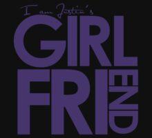 I Am Justin's Girlfriend (Purple) Kids Clothes