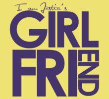 I Am Justin's Girlfriend (Purple) Kids Tee