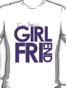 I Am Justin's Girlfriend (Purple) T-Shirt