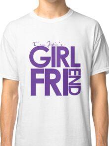 I Am Justin's Girlfriend (Purple) Classic T-Shirt