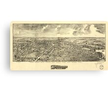 Panoramic Maps Edinboro Pa 1898 Canvas Print