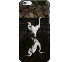 Reflective Moment - Great Egrets iPhone Case/Skin