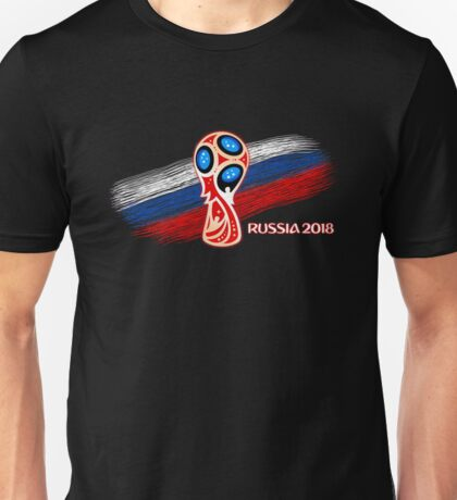 Russia 2018, Fifa World Cup soccer competition Unisex T-Shirt