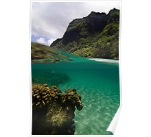 Over Under Ke'e Beach Poster