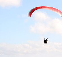 Paragliding 003 by Karl David Hill