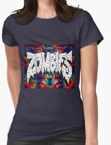 FBZ Red & Blue Tie dye background Womens Fitted T-Shirt
