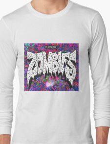FBZ purple splatter background Long Sleeve T-Shirt
