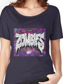 FBZ purple splatter background Women's Relaxed Fit T-Shirt