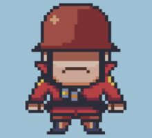 Pixel Red Soldier by DisfiguredStick