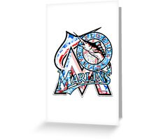 MARLINS WHITE Greeting Card