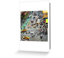 NYC City Tilt Shift Greeting Card