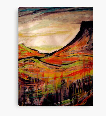 peak above.... sketch wall below Canvas Print