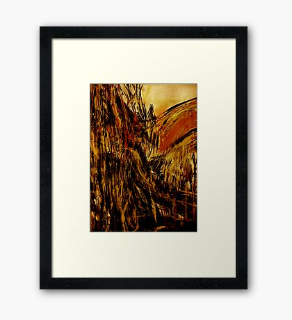 hill forest..... table peak valley Framed Print